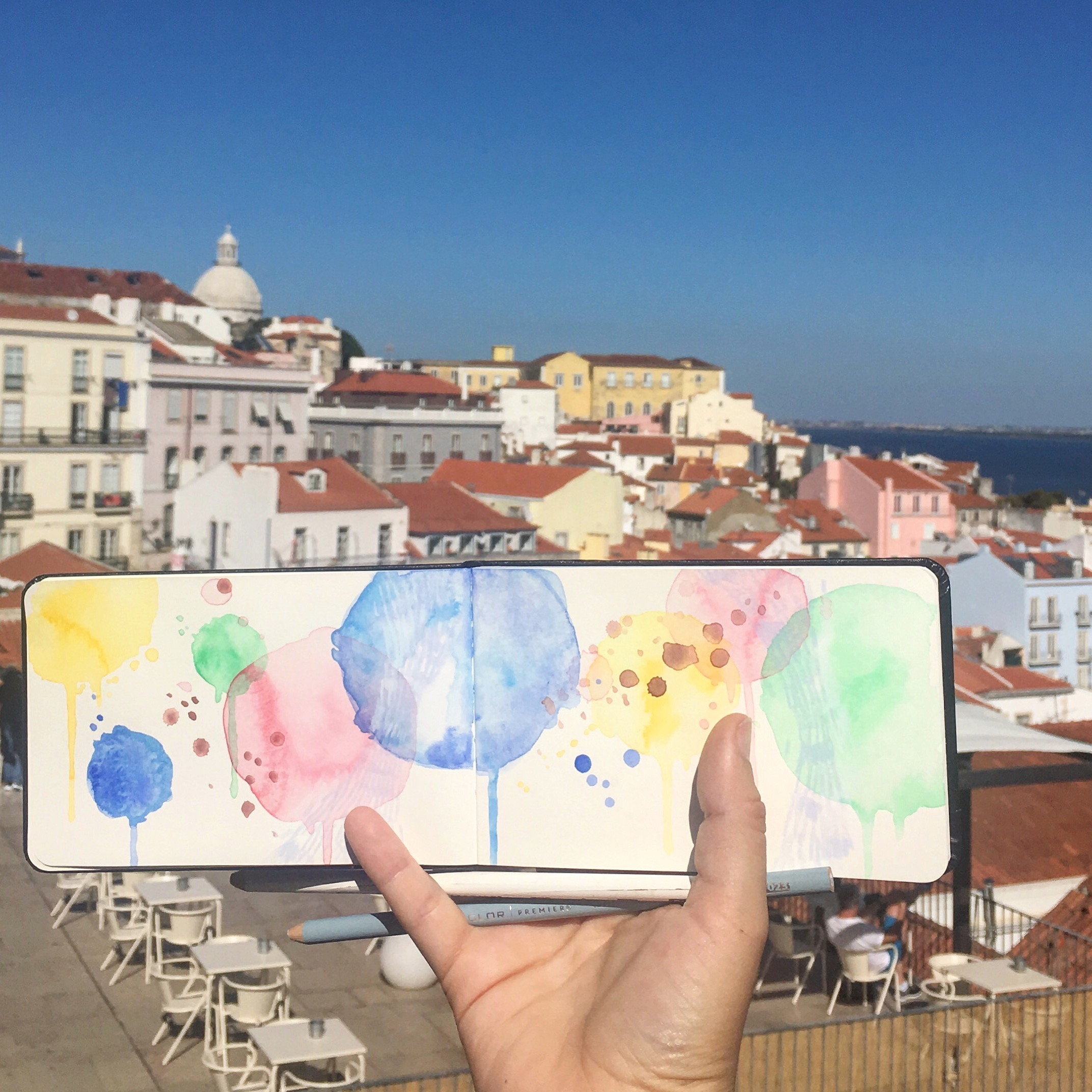 Amanda Michele's Travel Sketchbooks: Lisbon, Portugal