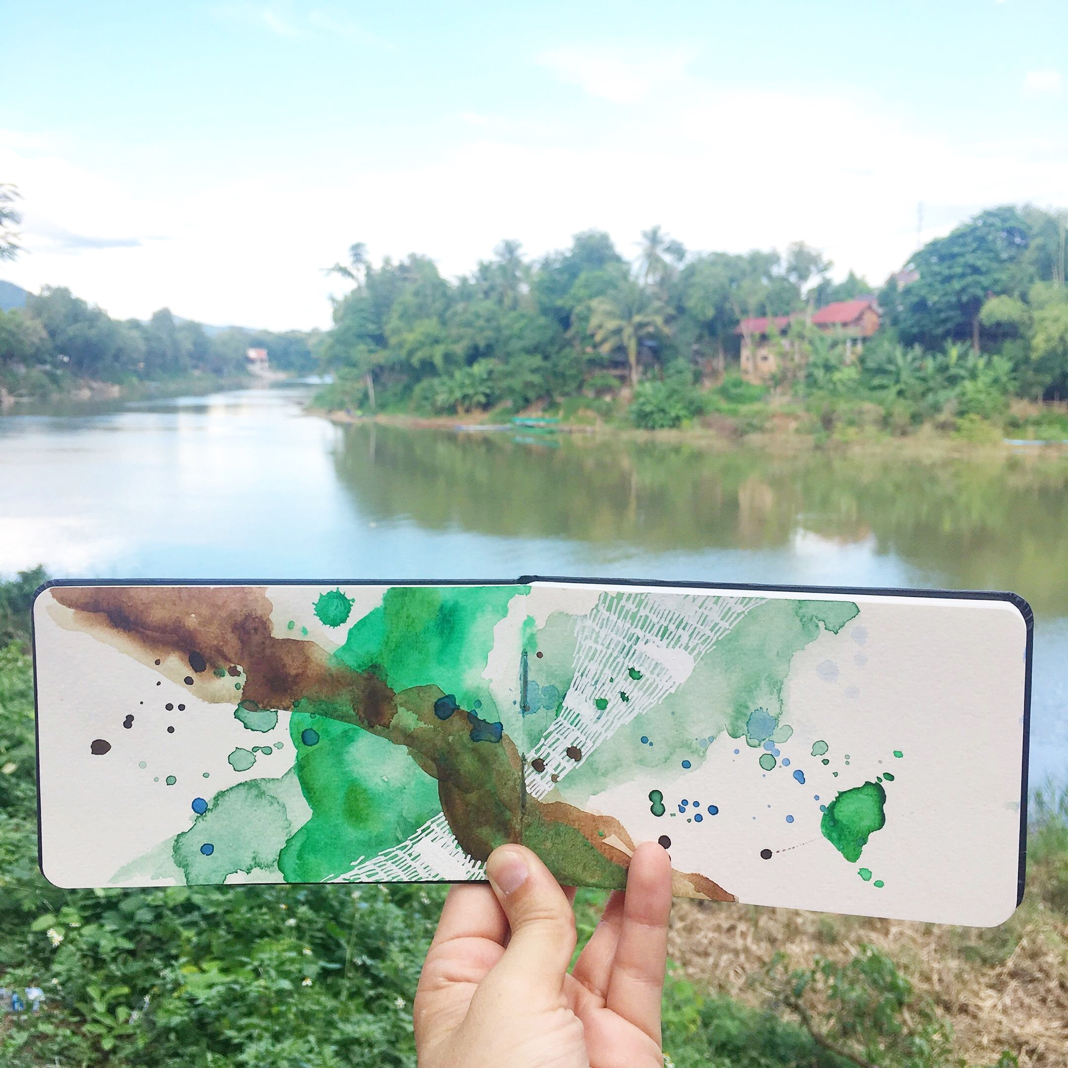 Amanda Michele's Travel Sketchbooks: Luang Prabang, Laos